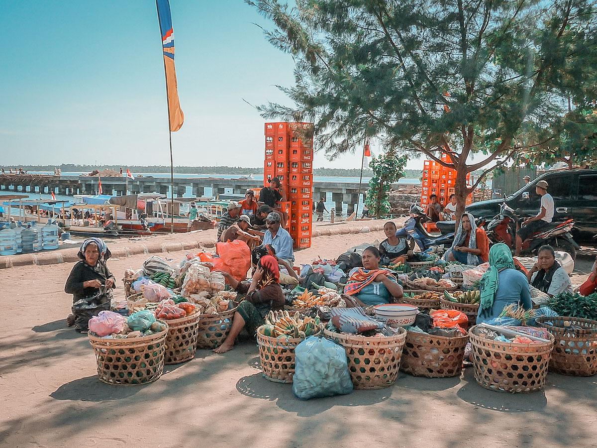 Isole Gili la guida pratica, il porto di Bangsal