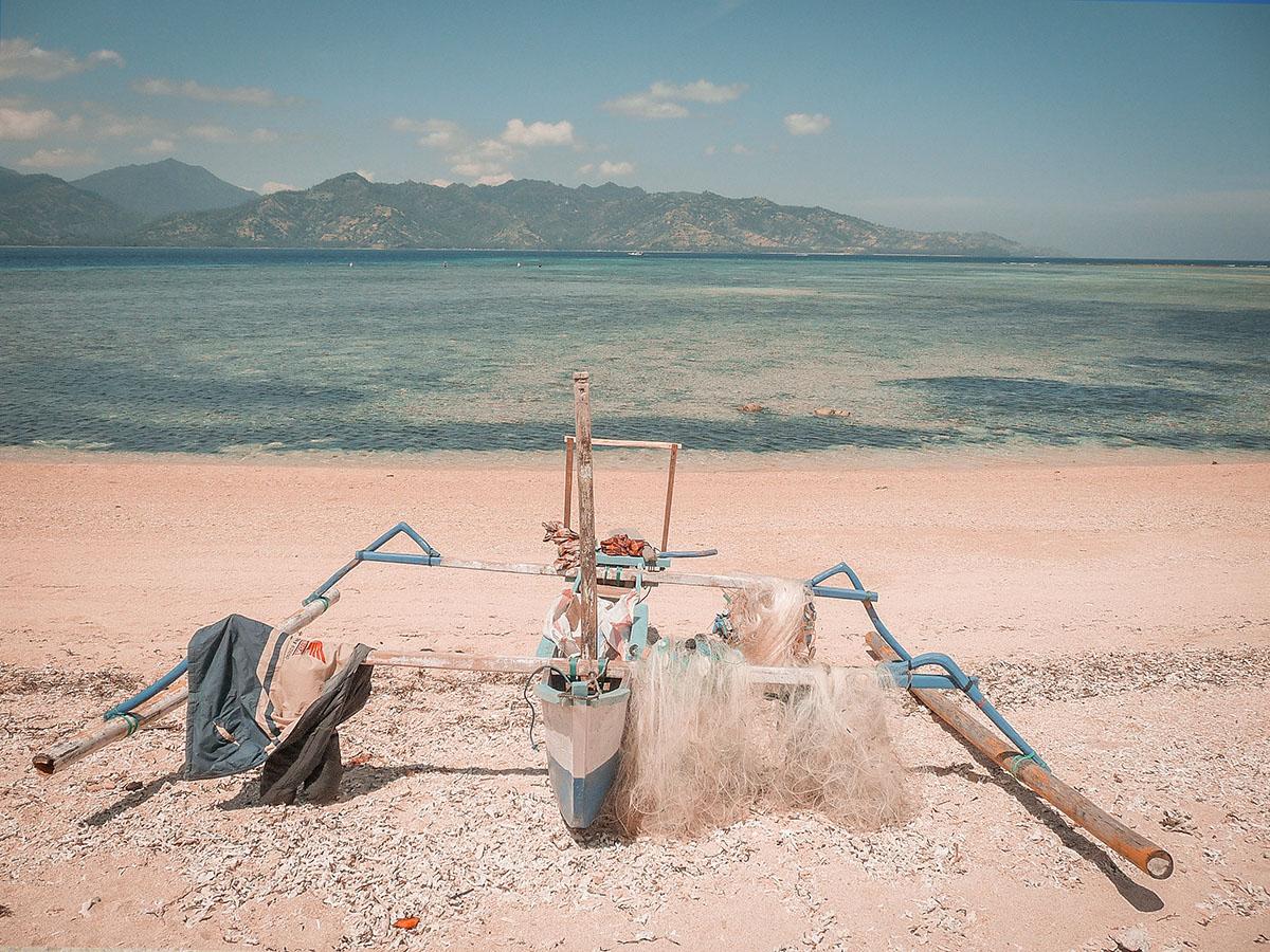 Isole Gili la guida pratica, imbarcazione tradizionale a Gili Air
