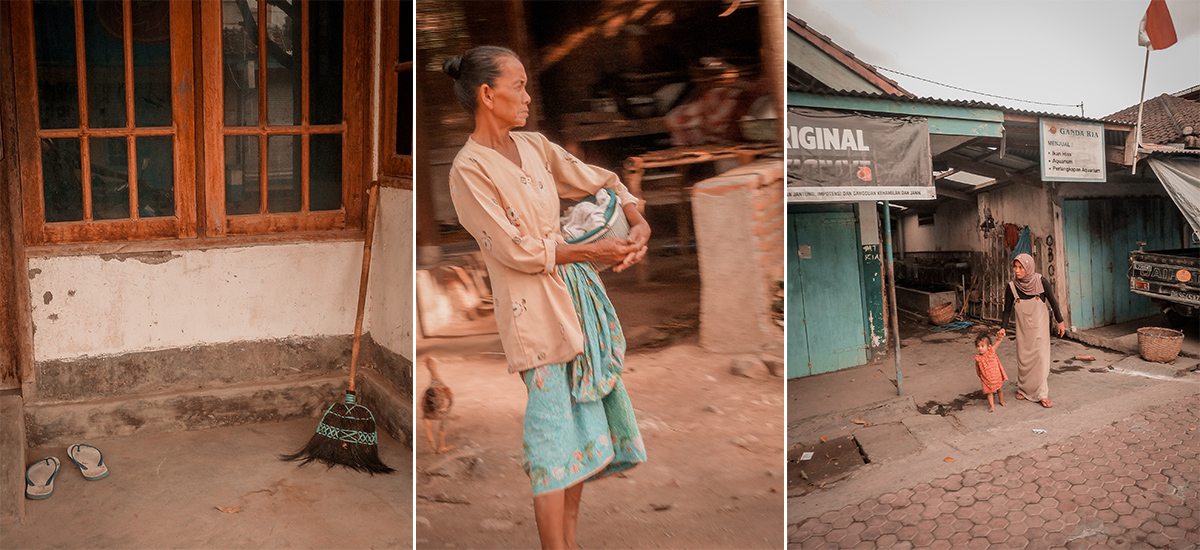La vita quotidiana nella città di Mataram