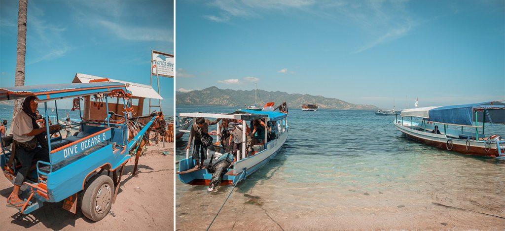Arrivo alle isole Gili. Itinerario in Indonesia: da Java alle Gili.