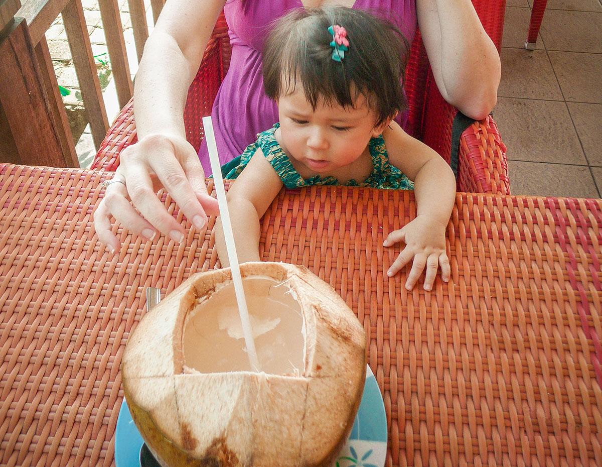 Uno spuntino a base di latte di cocco