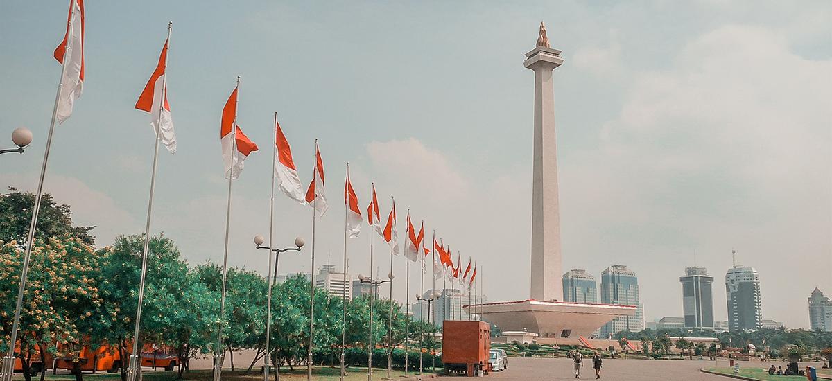 Il Monas (Monumen National), simbolo di Jakarta