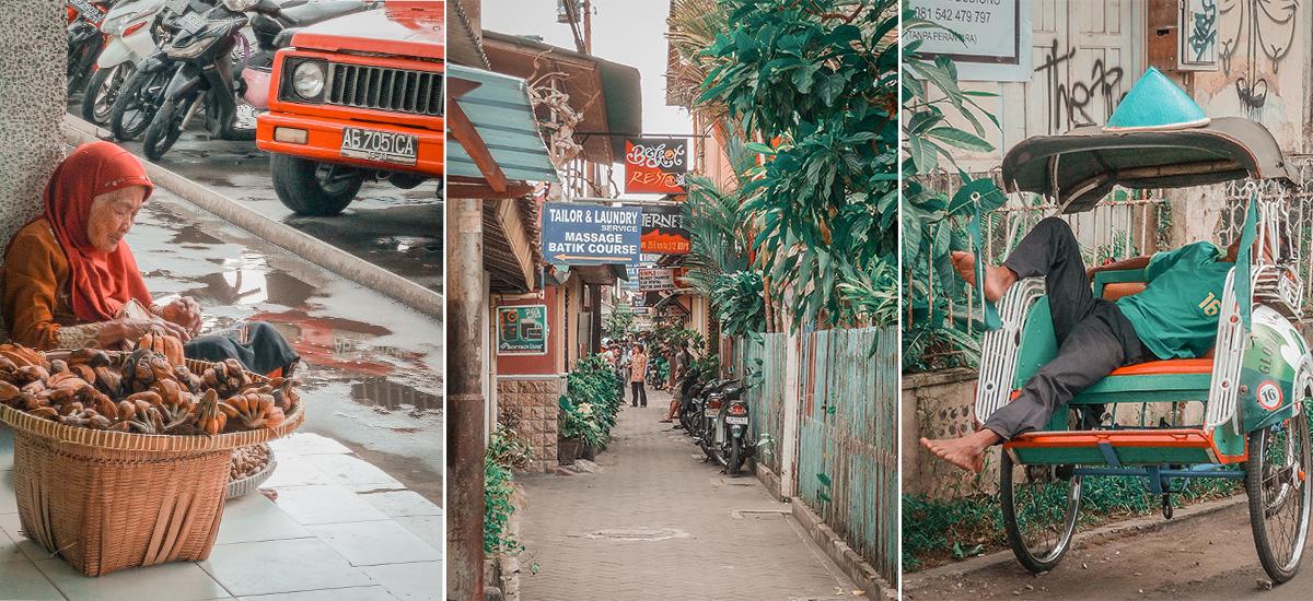 Lo scorrere della vita quotidiana nella città di Yogyakarta