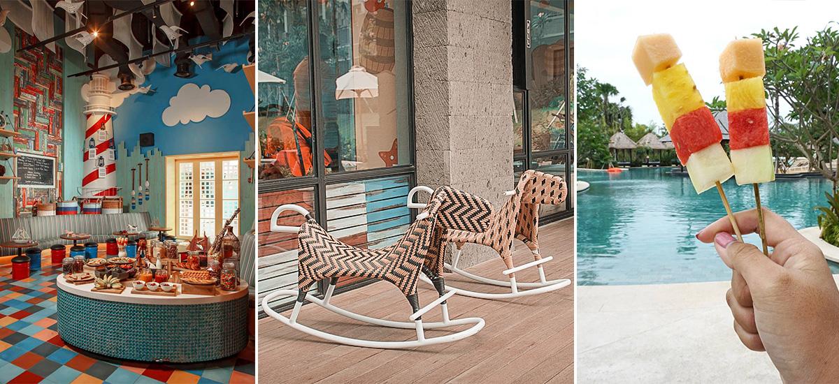 L'area ristorante e piscina dedicata ai bambini (foto  © Movenpick)