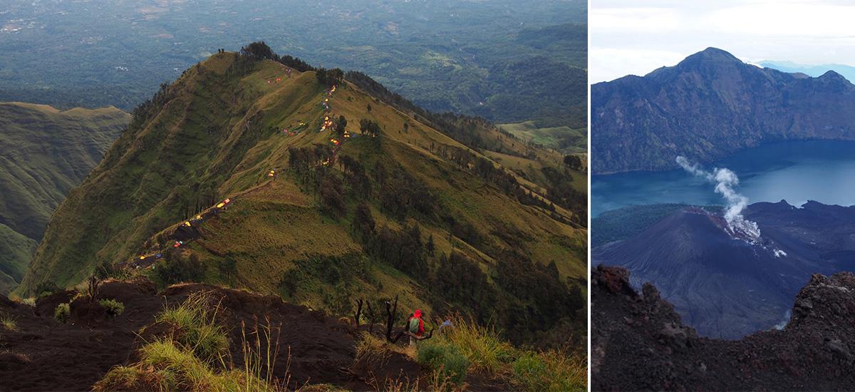La maestosità del Rinjani e la caldera del vulcano (foto © Courtney Balaz-Munn)