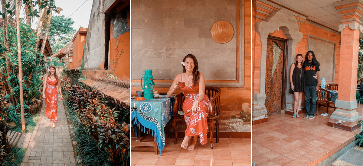 Il classico homestay in stile balinese