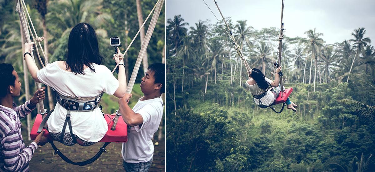 La preparazione dell'imbracatura e il volo nella foresta (foto © Artem Bali)
