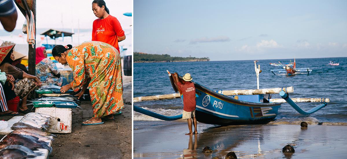 Il mercato di Kedonganan e la pesca (foto  © Michael Sale)