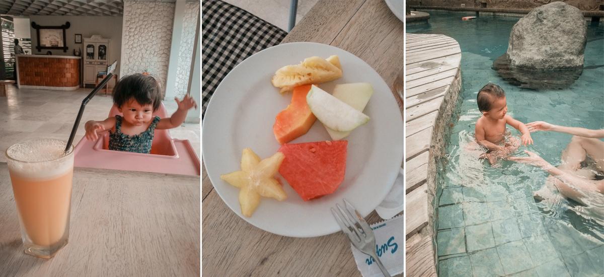 Fare attenzione al ghiaccio nelle bevande, all'acqua e offrire frutta sbucciata solo da mamma e papà