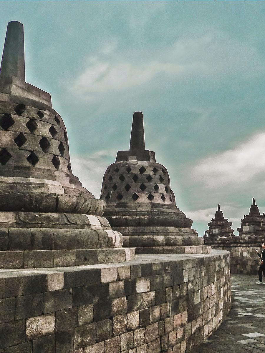 Viaggio In Indonesia. Il tempio di Borobudur a Java