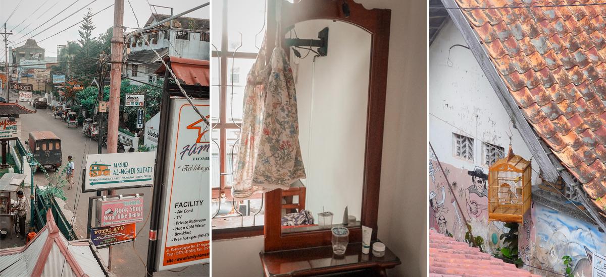 Jalan Sosrowijaian dalla finestra dell'homestay