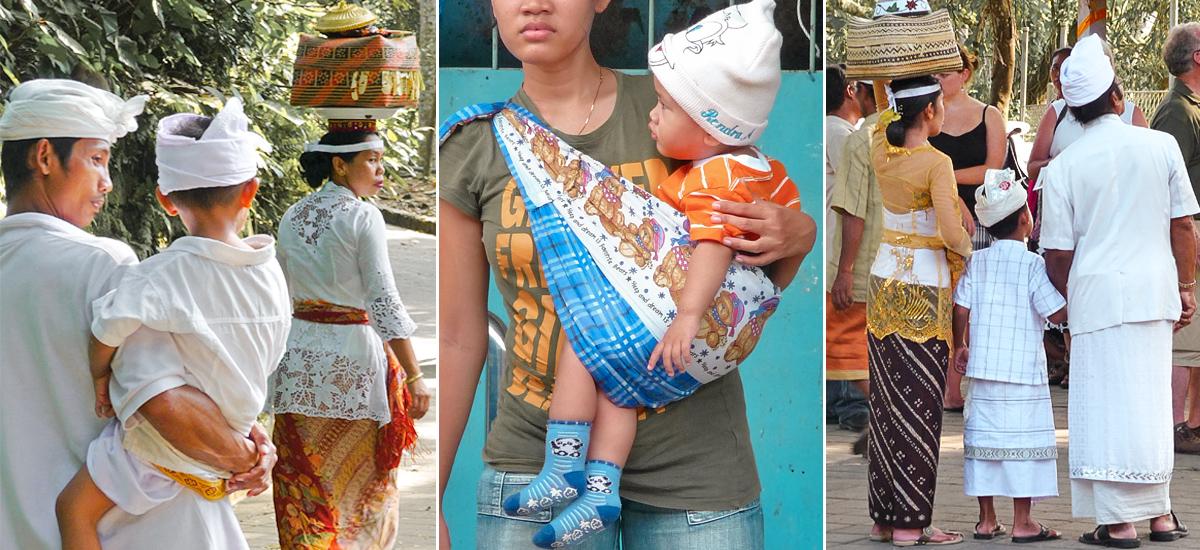 Genitori con bambini a Bali e a Jakarta