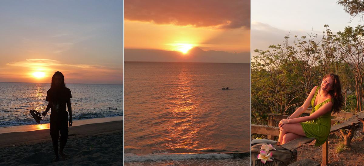 I tramonti infuocati di Senggigi