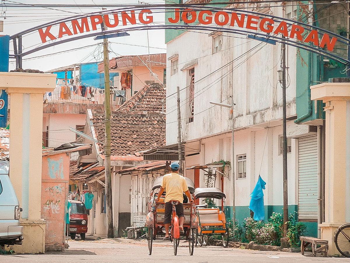 Yogyakarta è suddivisa in 'kampung' ovvero quartieri