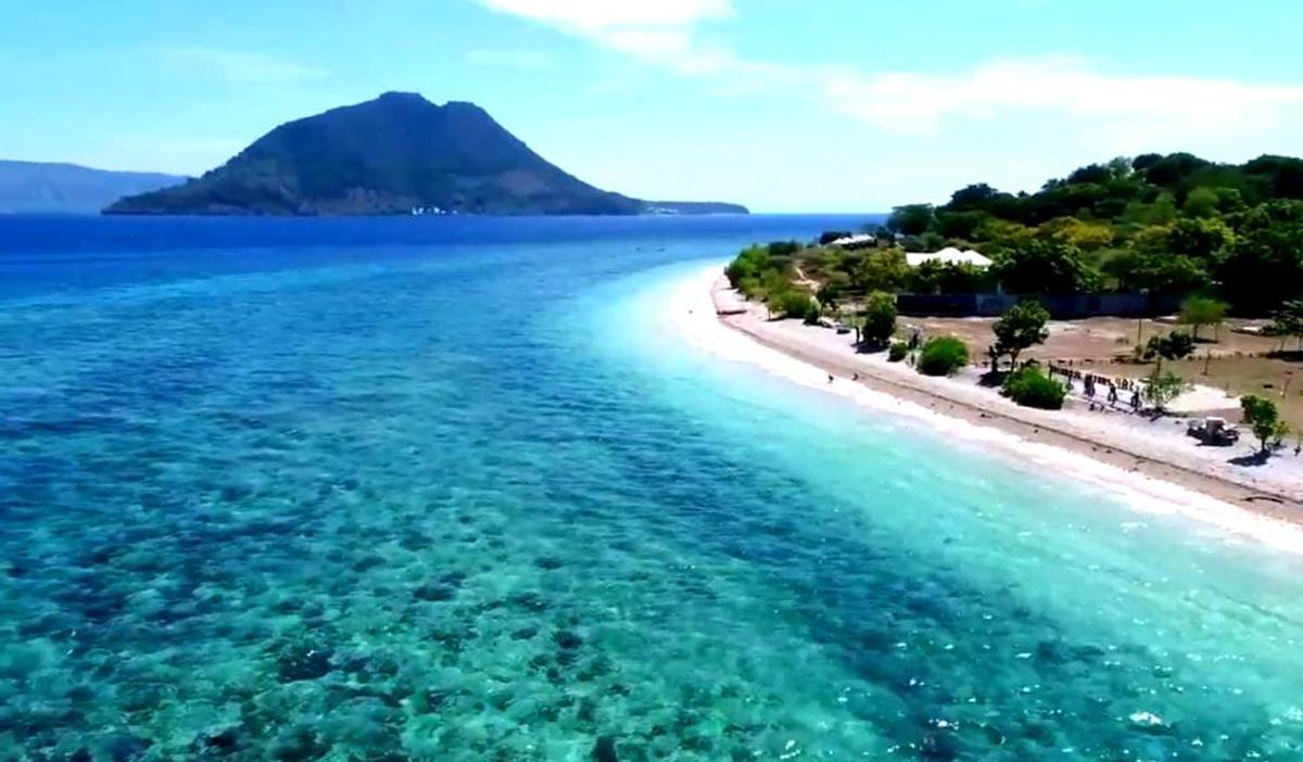 Bungalow sull'isola di Alor in Indonesia