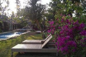 Hotel a Gili Air, il giardinetto del Dolcemare Resort
