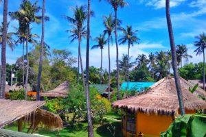 Hotel a Gili Air, il giardino dell'Oasi Bungalows