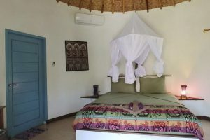 Hotel a Gili Air, la camera da letto dell'Oasi Bungalows