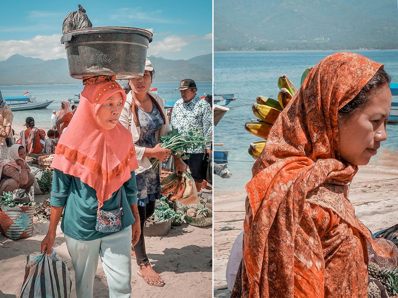 Isole Gili, la guida pratica, abbigliamento delle donne locali