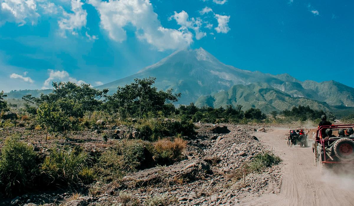 Dintorni di Yogyakarta, il vulcano Merapi