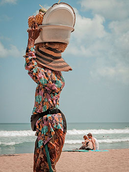 Spiaggia di Kuta di Bali