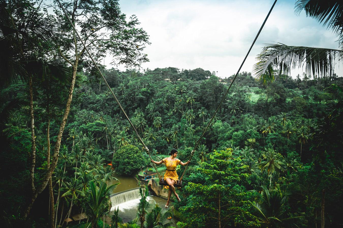 Ubud, l'altalena nella foresta.