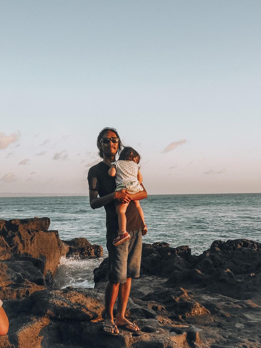 Canggu, Seseh Beach con la piccola Stella.
