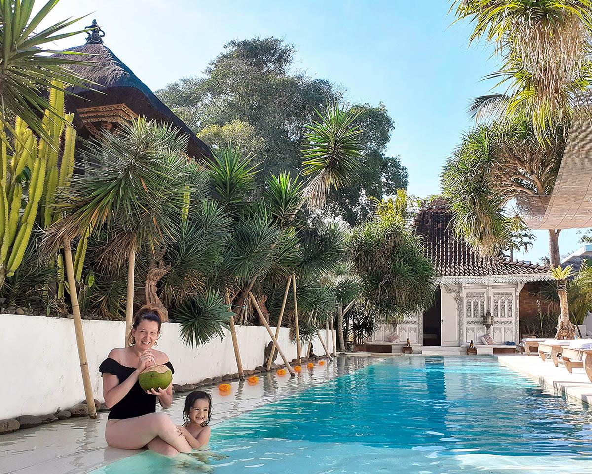 Canggu, villa con piscina.